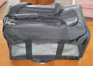 Sherpa Pet Carrier with Sheepskin Pet Bed. Like new.