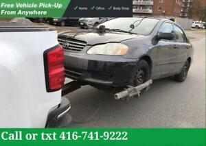 BRAMPTON  CASH FOR CARS | SCRAP-SALVAGE-USED-JUNK CARS | TOP CASH For Unwanted Cars - Damage  Cars - Not Running Cars