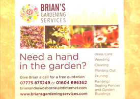 Gardening, grass care, leaf clearing etc. Time slots available NOW