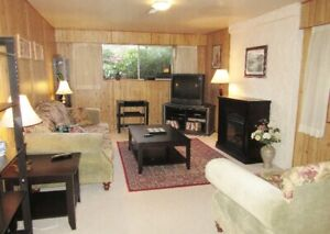 Cozy 1 bdrm fully furnished garden level suite May 1st