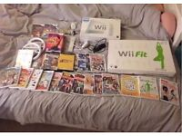 BIG BUNDLE! NINTENDO WII CONSOLE, WII FIT BOARD & 25+ GAMES -inc. MARIO KART/GAMECUBE