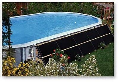 2'x20' SUNGRABBER Solar Swimming Pool Heater w/ end caps, clamps  Made in USA
