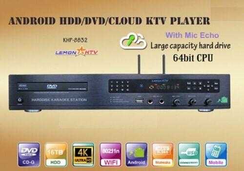 Lemon Android KTV 8832 4K 8TB HD 70,000 Vietnamese English karaoke player system