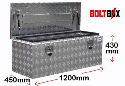 Aluminium Drawbar Toolbox For Caravans Campers or Trailler 1200mm