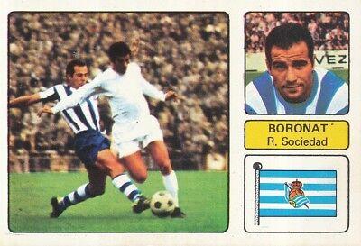 MARCO ANTONIO BORONAT # REAL SOCIEDAD CROMO CARD CAMPEONATO DE LIGA 1973-74...