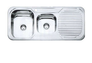 Colorado 1 3 4 Bowl Kitchen Sink Full Stainless Steel Top