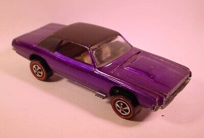 Hot Wheels Redline Purple Custom T-Bird Black Roof USA  R/L