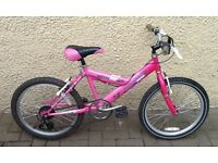 "Bike/Bicycle. GIRLS MOUNTAIN RIDGE "" BEBOP "" BICYCLE. SUIT 6-9 YEARS"