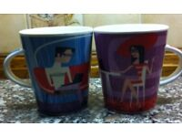 """2 x MUGS BY """"ROSE OF ENGLAND"""" (Brand new) PRICED FOR 2 MUGS"""