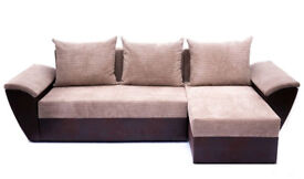 Corner sofa bed, fast and free delivery, spring seat, both left or right hand side