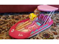 Barbie speed boat and pool