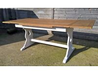 *FREE DELIVERY*Vintage Extending Draw Leaf Oak Table ~ Pantry White Farmhouse Chic Shabby(ercol pine