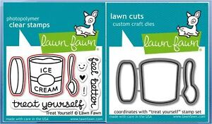 Details about Lawn Fawn Photopolymer Clear Stamps -8ct + Dies ~ TREAT