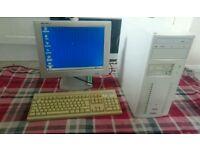 Windows 95 / MS Dos desktop pc + peripherals