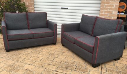 2 x 2 Seater grey sofa (Can Delivery)