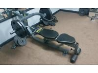 Powertec bench shoulder shrugs deadlift machine