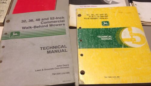 Deere 32 36 48 52 Commercial Walk Behind Mower Technical Manual