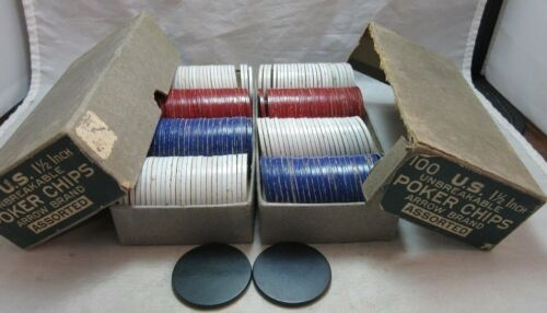 Vintage Arrow Brand Unbreakable Poker Chips