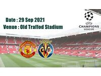 Mnachester United Vs Villarreal ticket 29/09/21