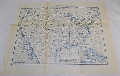 1890 Coast & Geodetic Survey Map/MAGNETIC MERIDIANS OF UNITED STATES FOR JANUARY Magnetic Map United States