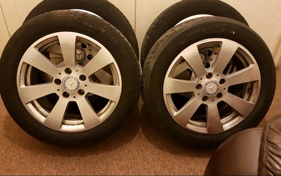 """16"""" mercedes alloys with tires"""
