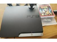 Playstation 3+controller and 2 games +camera