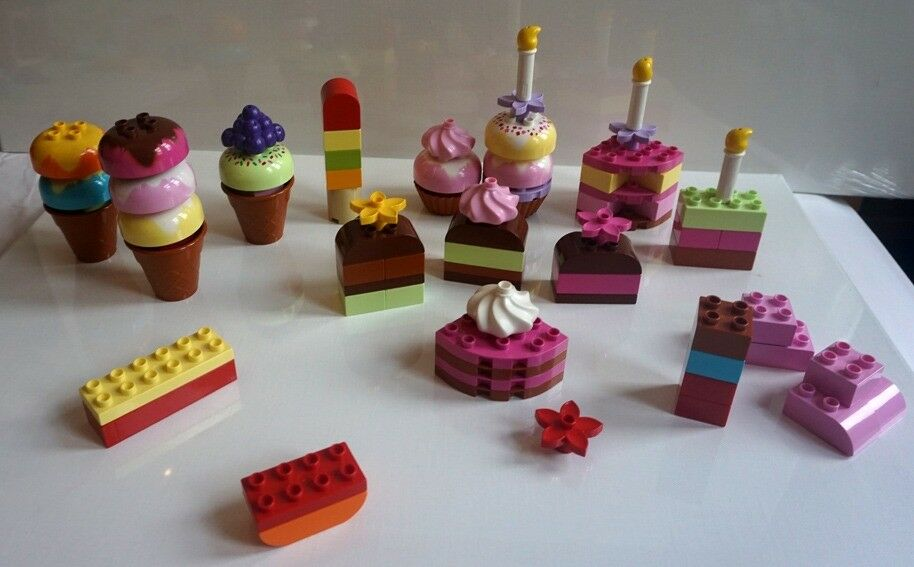 LEGO DUPLO CREATIVE BIRTHDAY CAKE CUP CAKES ICECREAM BUNDLE