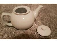 4 x White teapot