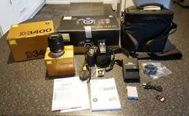 Nikon D3400 DSLR Camera with 18-55mm lens plus free LowePro camera bag