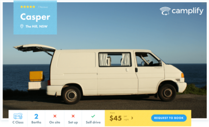 Campervan FOR HIRE from $45 p/n - Newcastle
