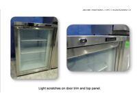 BLIZZARD UCF140CR GLASS DOOR UNDER COUNTER FRIDGE GRADED CHEAP