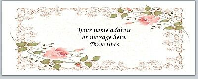 30 Personalized Return Address Labels Flowers Buy 3 get 1 free (bo 473)