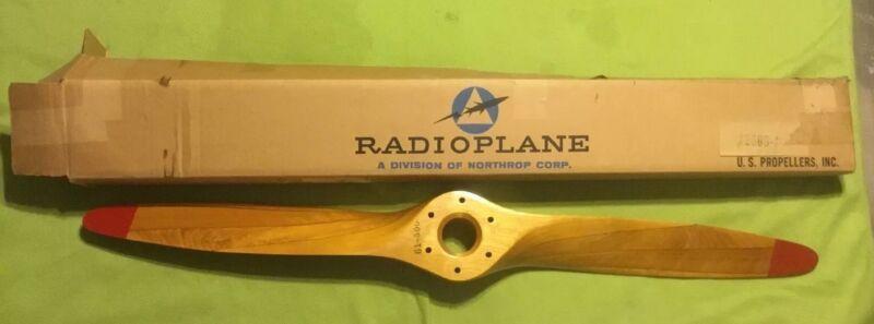 Vintage ~ Wood Propeller ~ U.S. Propellers Inc ~ 22008-1 ~ WWII ~ NOS ~ .Org Box