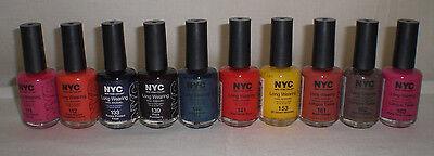 NYC New York Color Long Wearing Nail Polish Enamel Pack of 2 Choose Your Shade Long Wearing Nail Enamel