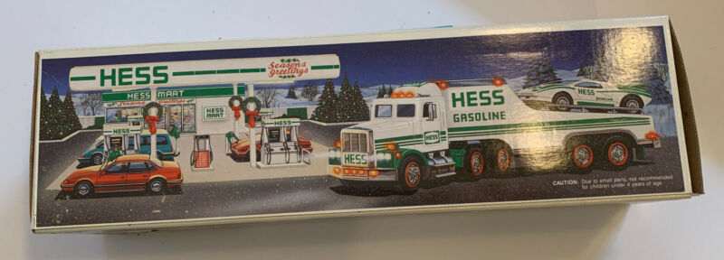 1991 Hess Toy Truck and Racer Car Original Box READ