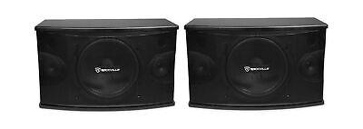 """Rockville Pair KPS10 10"""" 3-Way 1200 Watt Karaoke Speakers+Wall Brackets/MDF, ..."""