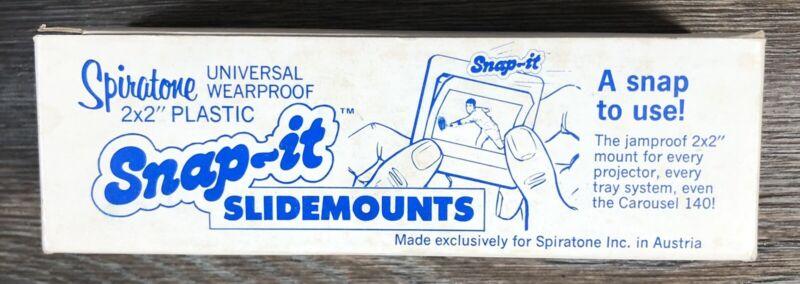 Vintage Spiratone 2x2 Snap It 24X36 MM SLIDE MOUNTS FRAME BOX OF 100 Piece