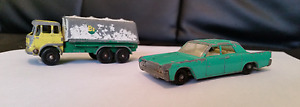 1964 Matchbox Tanker and Car - 2 Vehicles