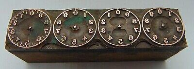 Vintage Printing Letterpress Printers Block Man Clocks No Arms
