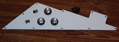 Gibson Flying V Pickguard Loaded Pot Genuine White 4 Ply Guitar Parts Custom T X