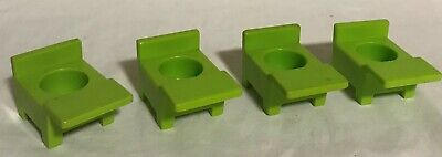 Fisher Price Little People Vintage School House Lot of 4 GREEN DESKS