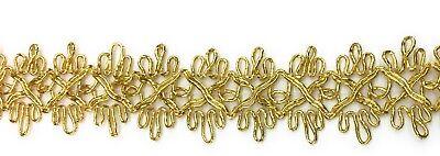 "Design Gold Trim (metallic Gold Braid Trim Beautiful Scalloped  Design 1""  wide xBTY)"