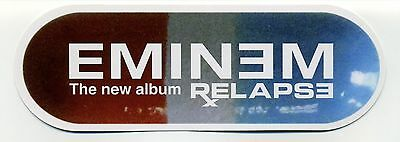 "Original EMINEM ""Relapse"" Pill-Shaped 6"" x 2"" Promotional Postcard RARE"