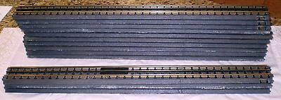 "MTH O Scale Real Trax Solid Rail 30"" Straight Track  – 13 pc Lot of #40-1019"