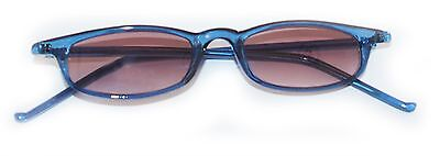 Reading Glasses Tinted Sunglasses Beach Readers Rich Blue Polished Frame +3.50](Beach Reading)