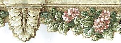 DIE-CUT FLOWERS AND LEAVES ON WALL ARCHITECTURE Wallpaper bordeR Wall (Die Cut Wall Border)