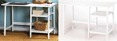 White Classic Office Home Or Student Workstation Desk Nib