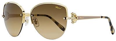 Chopard Butterfly Sunglasses SCHC18S 0358 Gold/Tortoise 60mm (Chopard Sunglasses For Women)