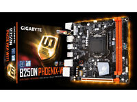 intel core i3 7100 and gigabyte b250 phoenix motherboard with scythe katana 4 cooler