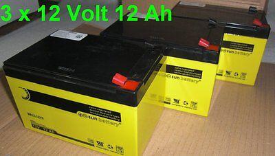 Ersatz Akkus für 800W Eco Anaconda Miniquad Elektroquad ATV Kinderquad, 3 x 12V